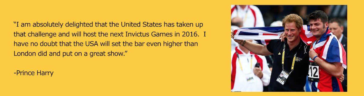Prince Harry Quote for the Invictus Games 2016 in Orlando FL