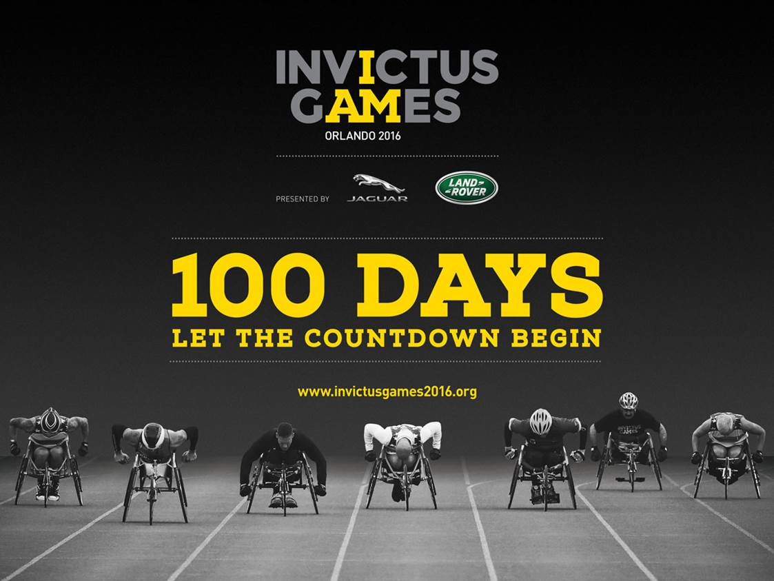 Invictus Games Orlando 2016 - 100 Days - Let the Countdown Begin