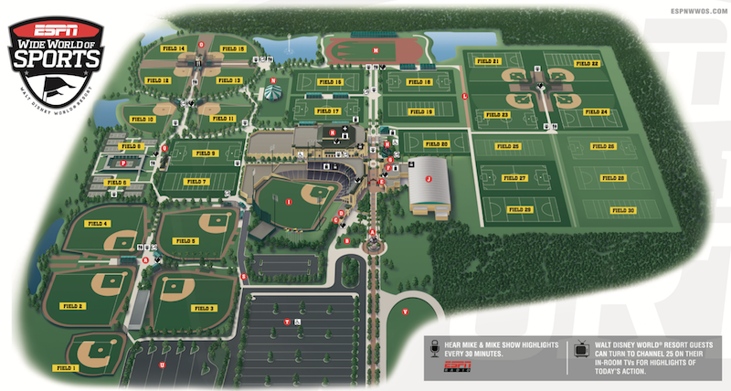 ESPN Wide World of Sports Complex Map