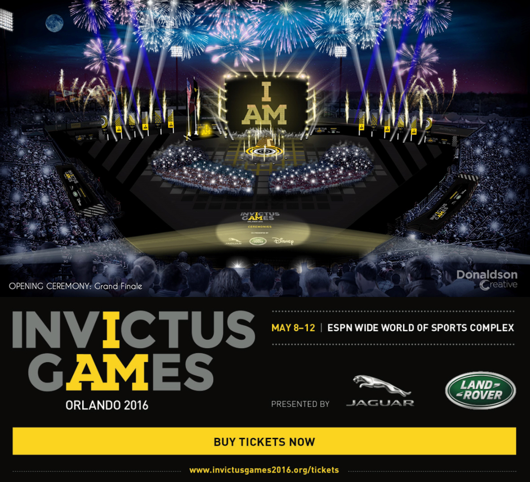 Opening Ceremony for Invictus Games 2016