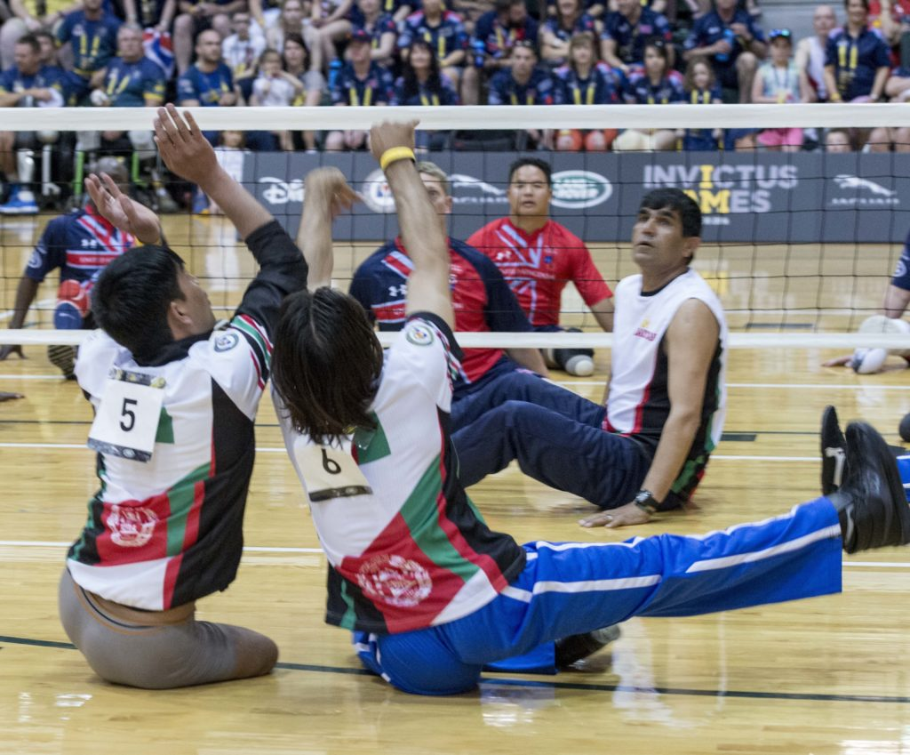 UK vs Afghanistan sitting volleyball at 2016 Invictus Games