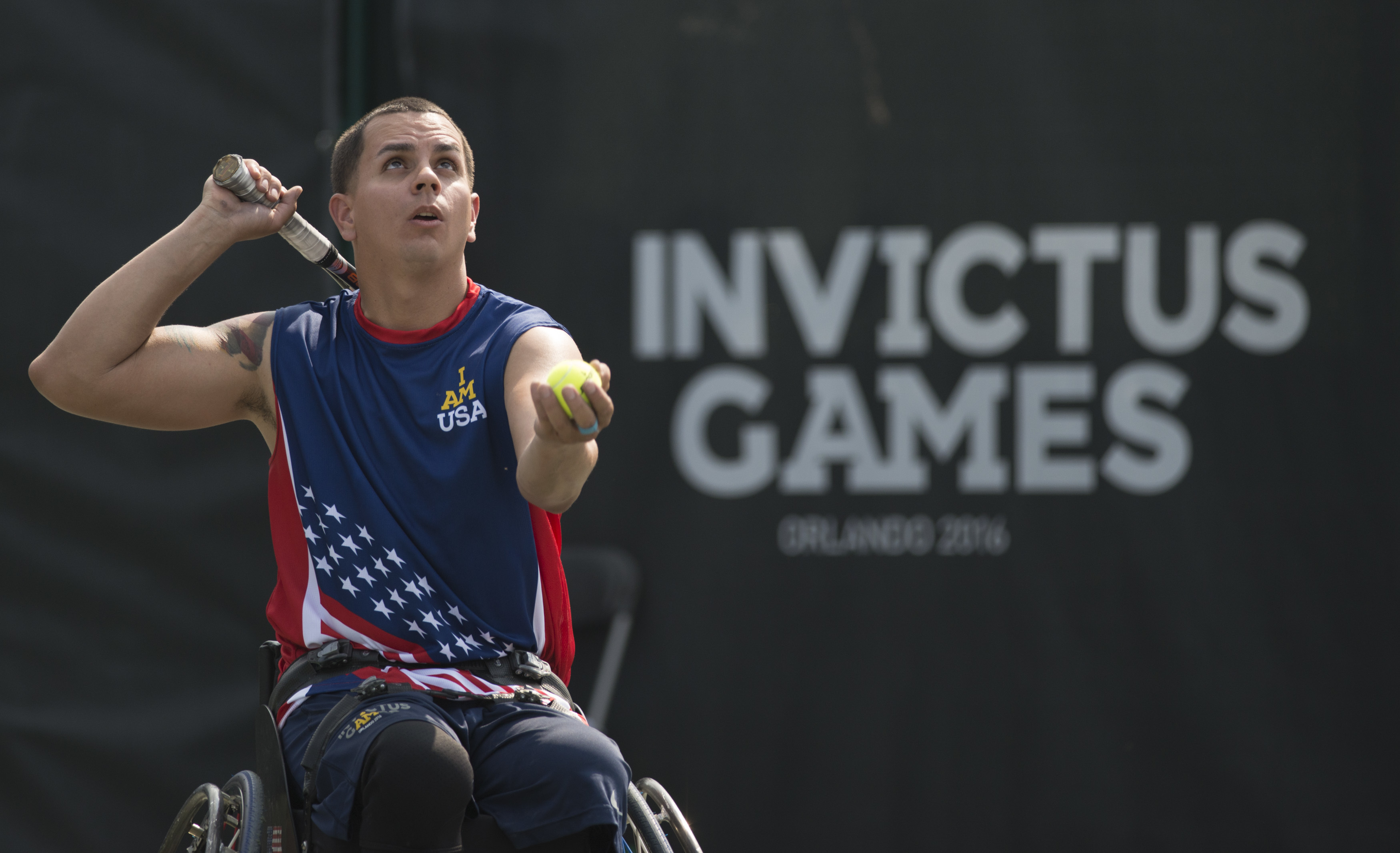2016 Invictus Games: US Team play New Zealand in wheelchair tennis